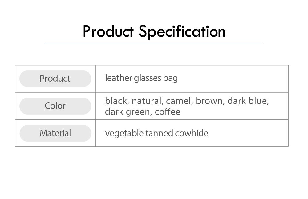 Handmade Leather Japanese Glasses Bag, Vegetable Tanned Leather Glasses Case, Hit Color Leather Glasses Bag 6