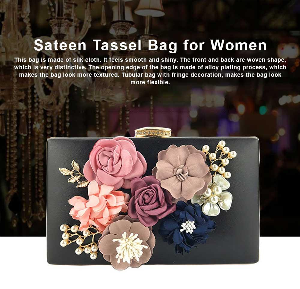 Ladies Shoulder Chain Floral Bag Ladies Evening Leather Clutch Bag 0