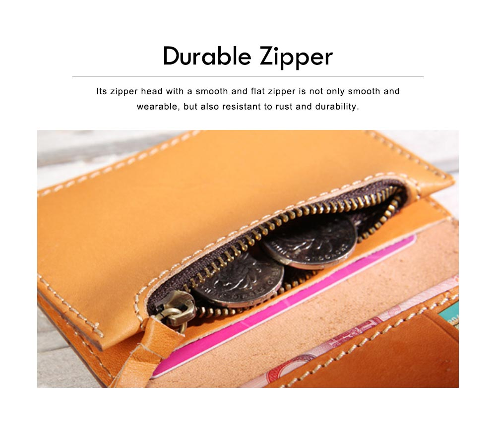 2019 New Vegetable Tanned Leather Card Bag, Japanese Style Female Coin Purse, Handmade Leather Card Holder 1
