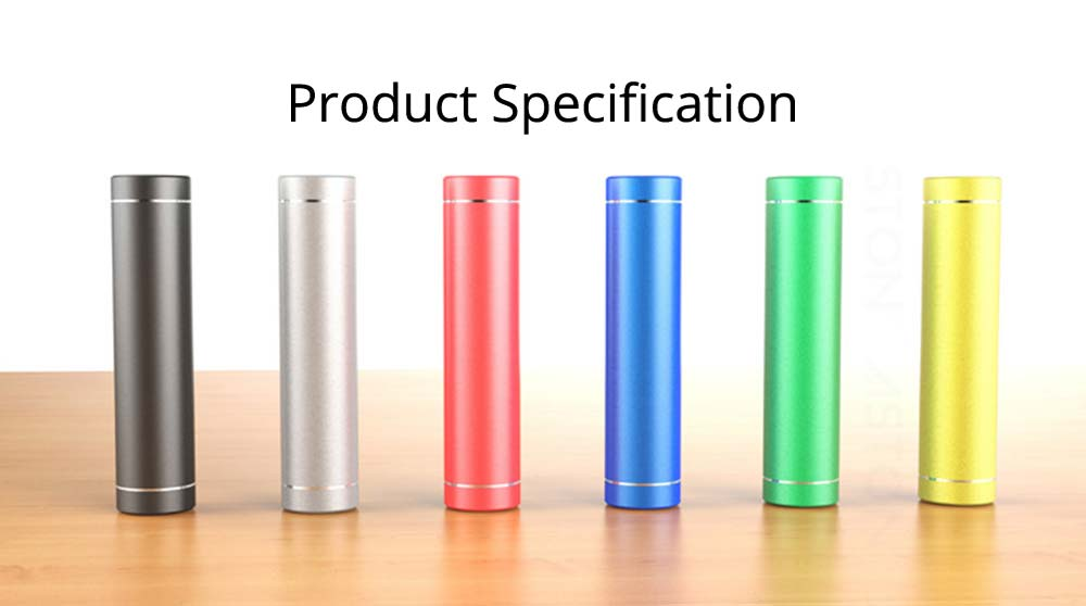 Exquisite Phone Charging Aluminum Alloy Cylinder Portable External Battery Charger USB Socket Power Bank for Cell Phone 6