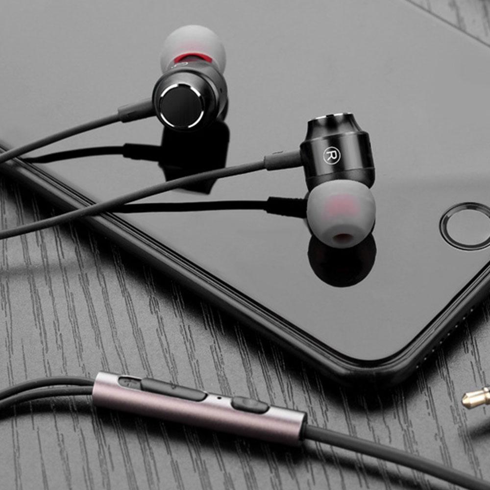 Metal In-ear Earphones Heavy Bass Magic Sound Mobile Phone Computer Universal Headphones, Sports Magnetic Suction Ear Metal Bluetooth Headset 9