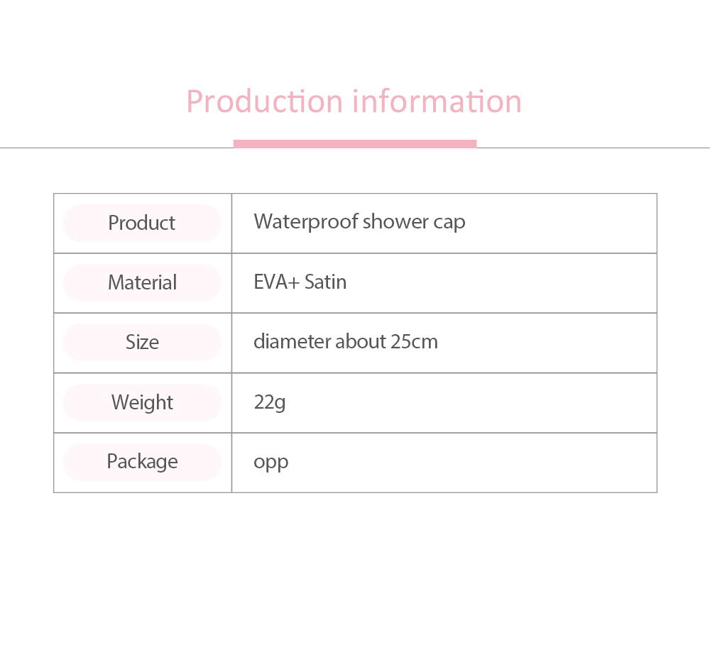 Waterproof Shower Cap Adult Women's Kitchen Anti-dust Cap, Long Hair Thicken Cute Shower Cap, Bathing Shower Hat 6
