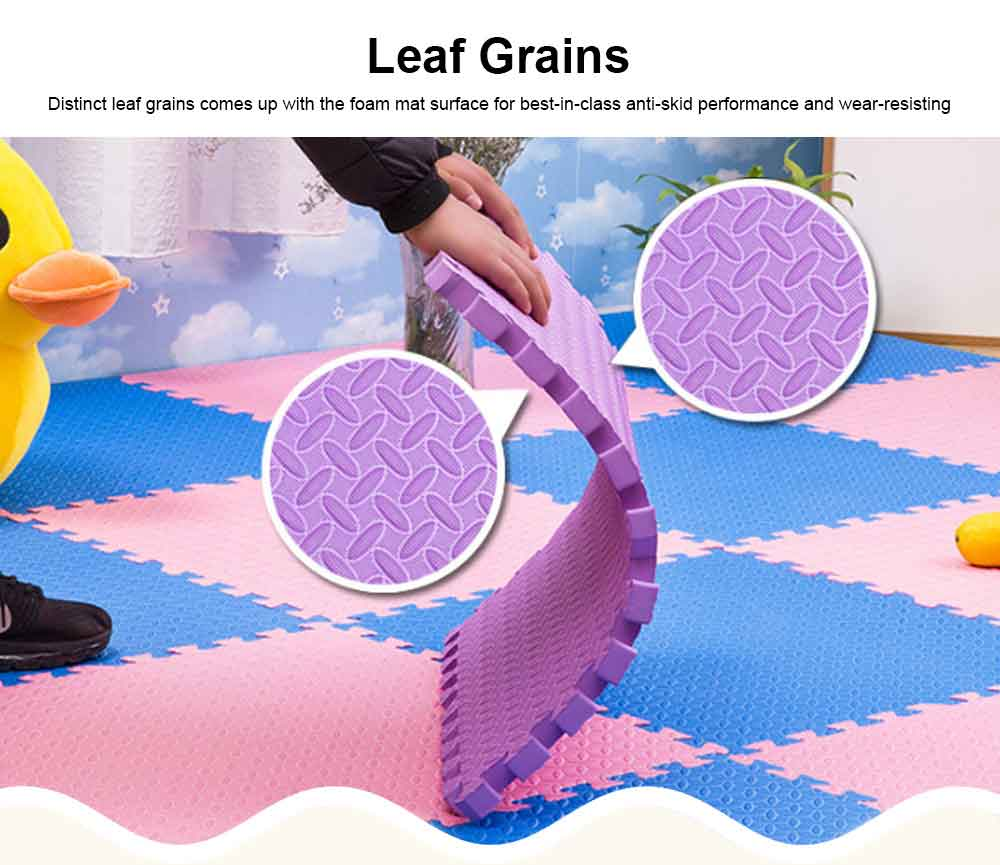 Leaf Grain Crawls Cushion for Bedroom, Living Room, Toddler Safety Guard Baby Playing Mat, Floor Protector Leaves Grain Baby Foam Pad 5