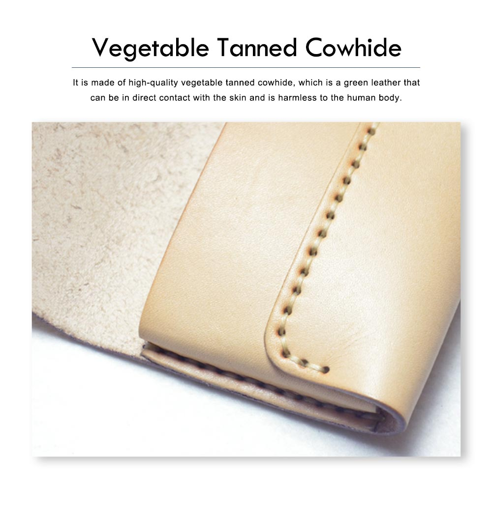 Handmade Leather Japanese Glasses Bag, Vegetable Tanned Leather Glasses Case, Hit Color Leather Glasses Bag 2