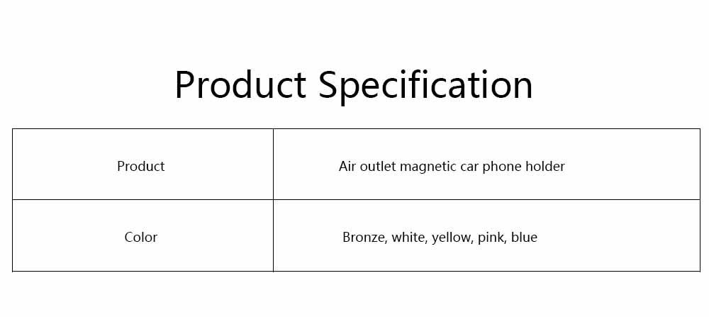 Air Outlet Magnetic Car Phone Holder, Car Lazy Bracket Car Phone Holder, Practical Magnetic Car Phone Holder for Air Outlet 6