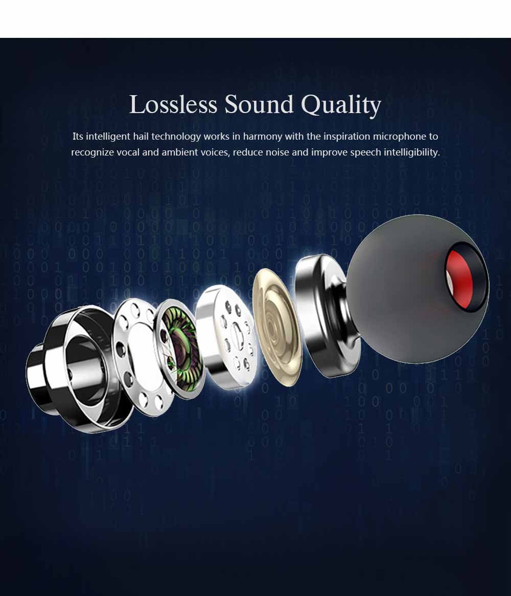 Wireless Bluetooth Headset In-ear Earphone, Stereo Magnetic Waterproof Sports Bluetooth Headset 3