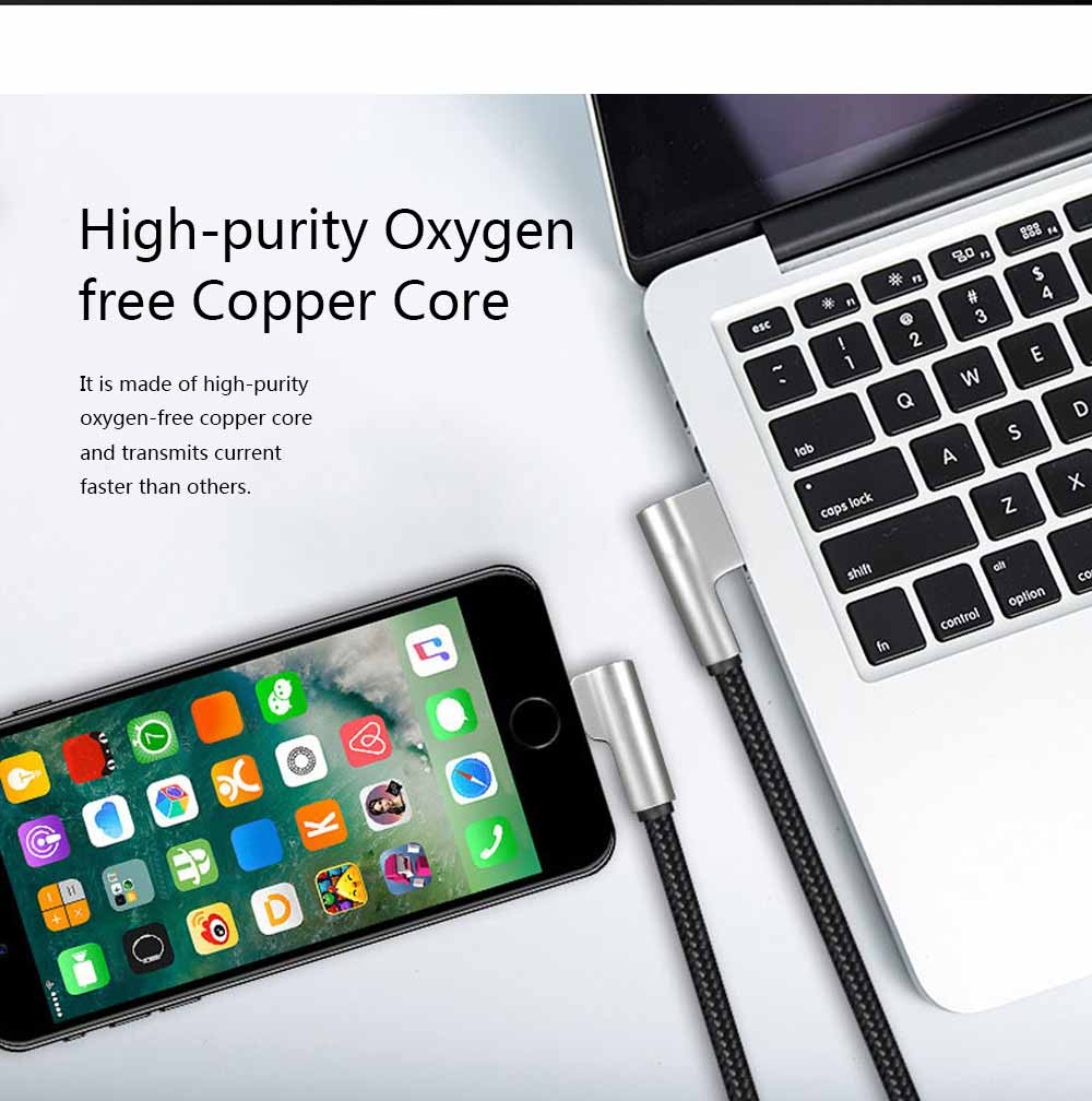 Zinc Alloy Double Elbow Data Cable, iPhone 8 Apple X Mobile Phone Charging Cable Mobile Phone Charging Data Cable 4