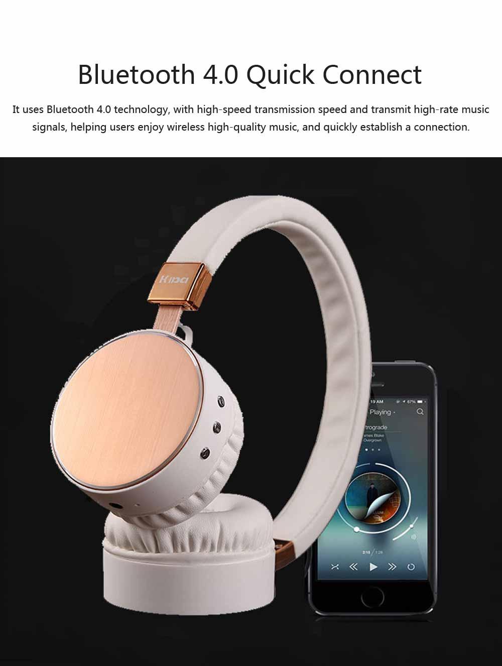 Headset Subwoofer Wireless Bluetooth Headphones Smart Stereo Sports Phone Headset, Universal Mini Headset Gaming Bluetooth Earphone 4