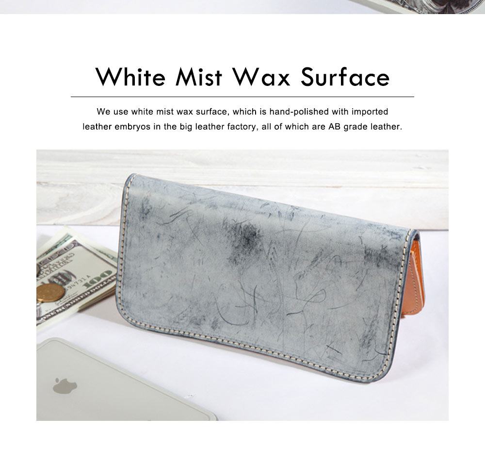 New Long Leather Cutch Fashion Vegetable Tanned Wallet for Ladies, New Handmade Suede Leather Wallet 5