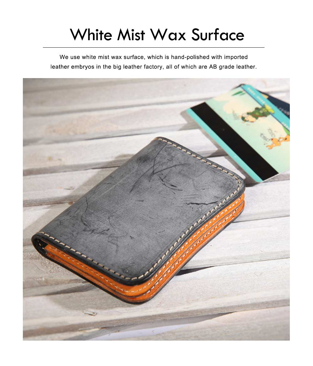 2019 New Vegetable Tanned Leather Card Bag, Japanese Style Female Coin Purse, Handmade Leather Card Holder 5