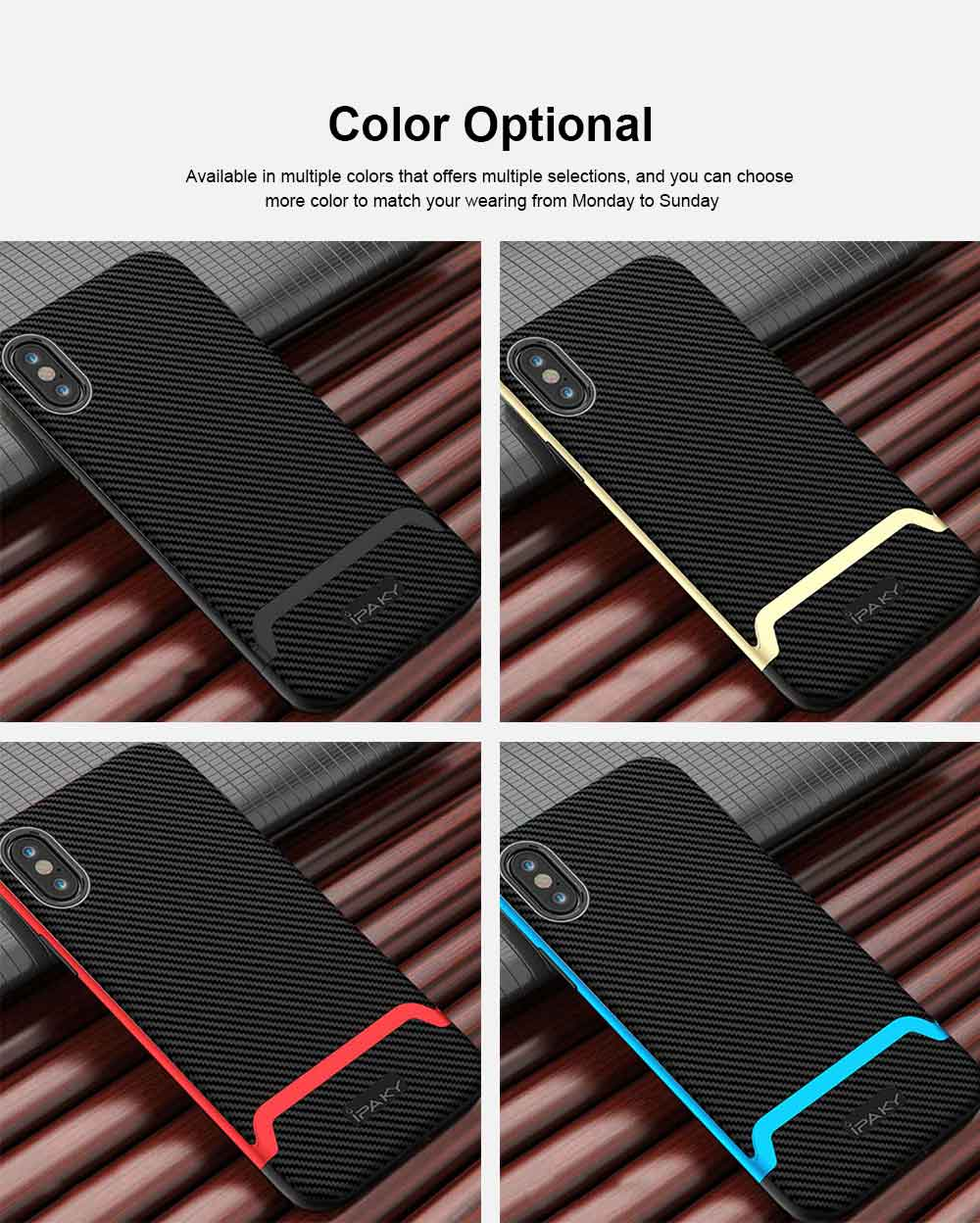 Corrugated Texture Phone Case Compatible for iPhone X/XS/Max, Anti-scratch Protective Cover for Apple iPhone 5.8-6.5 inch Universal Phone Cover 6