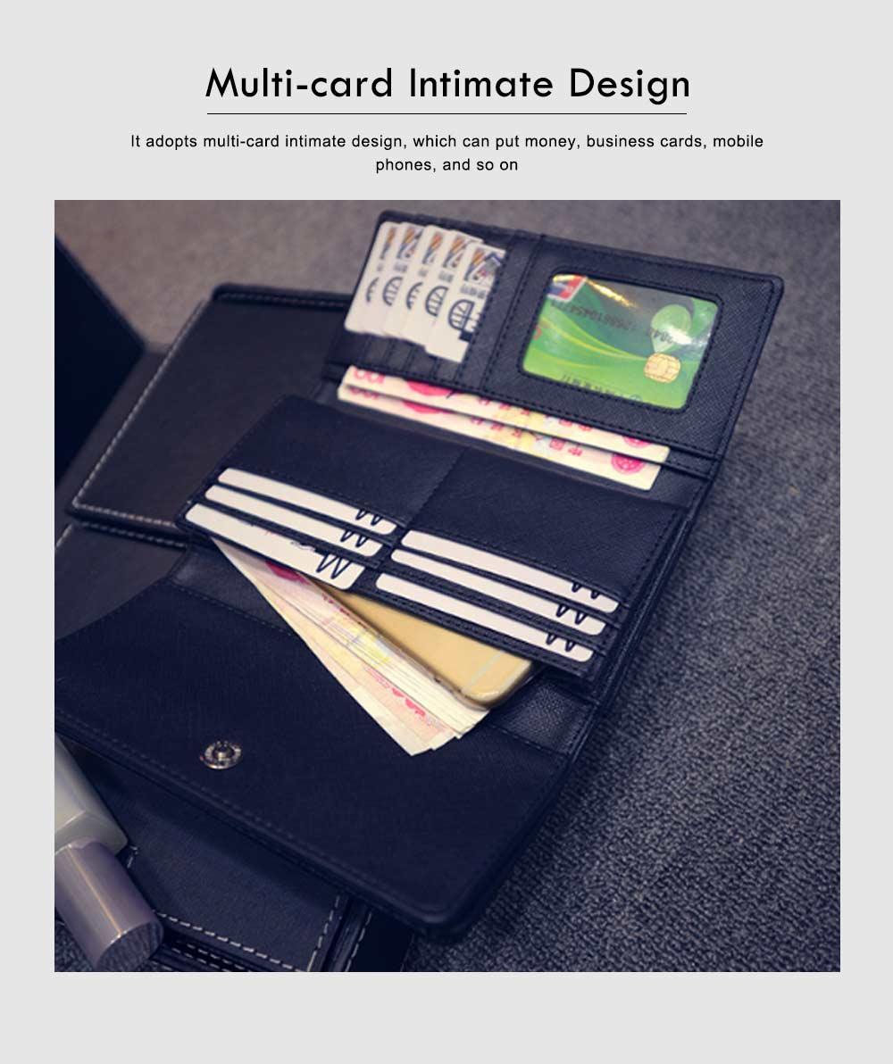 Long Double Cover Clutch, New Fashion Women wallet,European and American Pop Pun Style Rivet Handbag 2