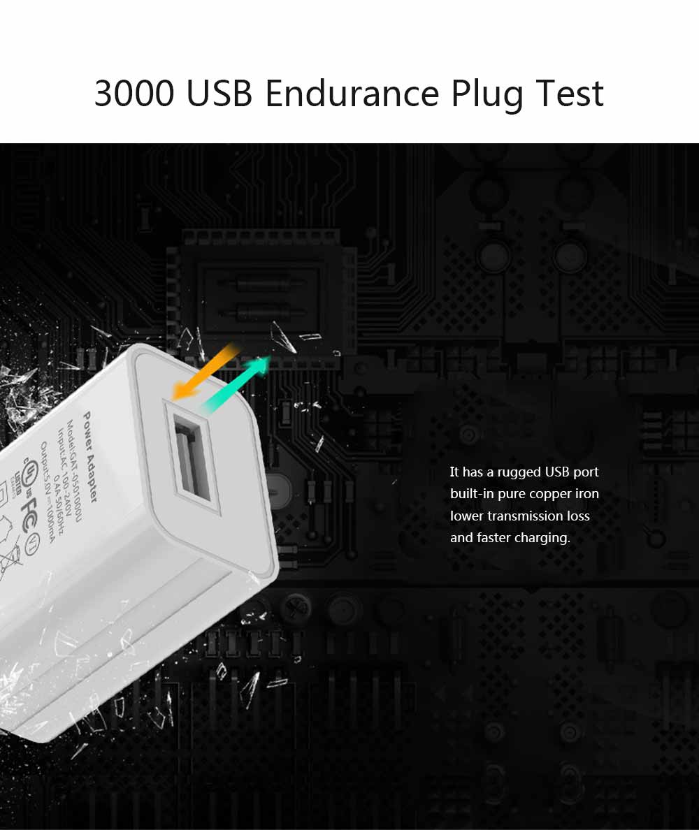 US Standard UL Certified Charger, 5V 1A for Millet Universal USB Charging Head, High Quality UL Adapter Charger 3