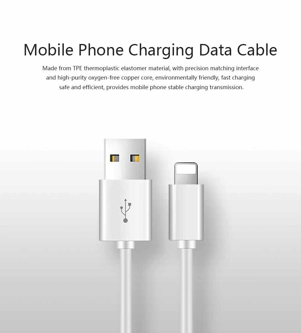 Data Cable for Apple Data Cable, Injection Data Cable, 2.4A Fast Charge Data Android Data Cable Mobile Phone Charging Data Cable 1