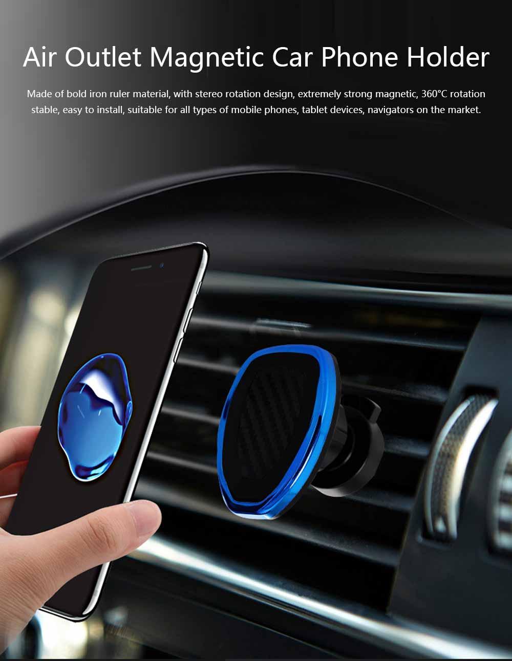 Air Outlet Magnetic Car Phone Holder, Car Lazy Bracket Car Phone Holder, Practical Magnetic Car Phone Holder for Air Outlet 0