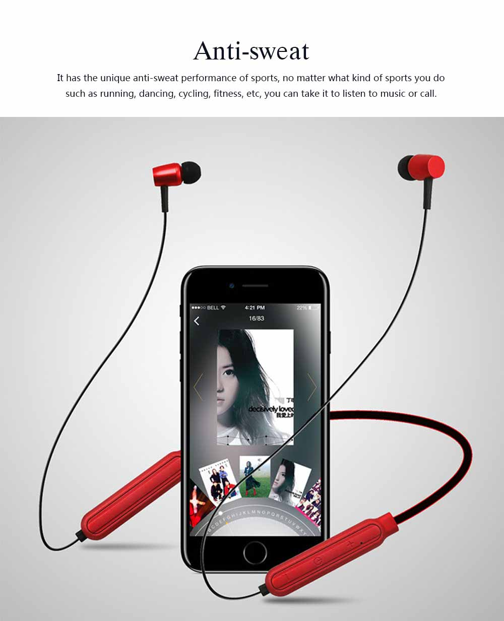 Wireless Bluetooth Headset In-ear Earphone, Stereo Magnetic Waterproof Sports Bluetooth Headset 4