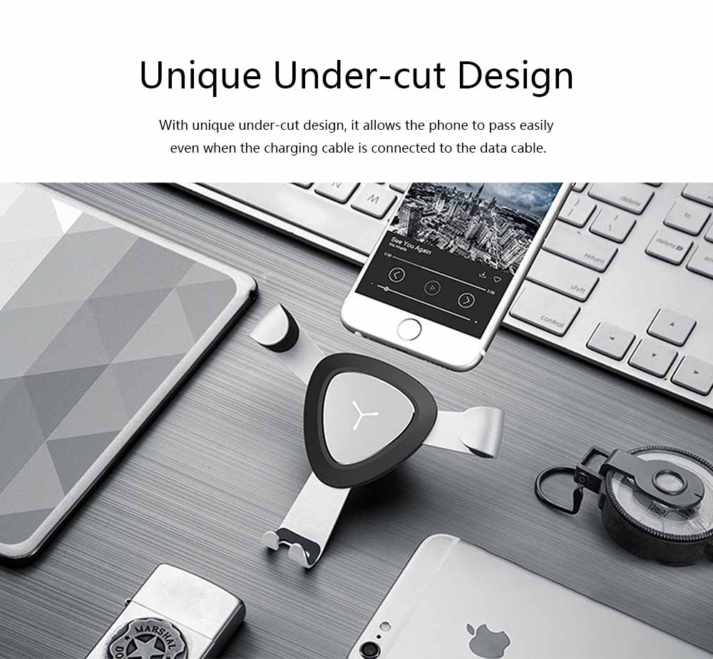 Car Lazy Bracket Phone Holder, Multi-function Creative Metal Car Navigation Universal Outlet Holder 2