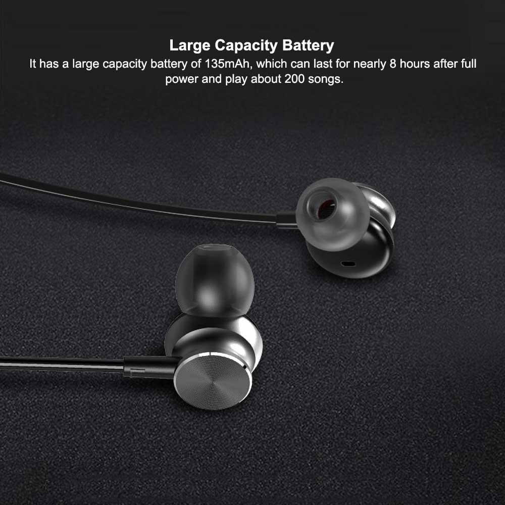 New Bluetooth Headset Neck-mounted Bluetooth Earphone, Sports Bluetooth Headset, Wireless Bluetooth Headset In-ear 2