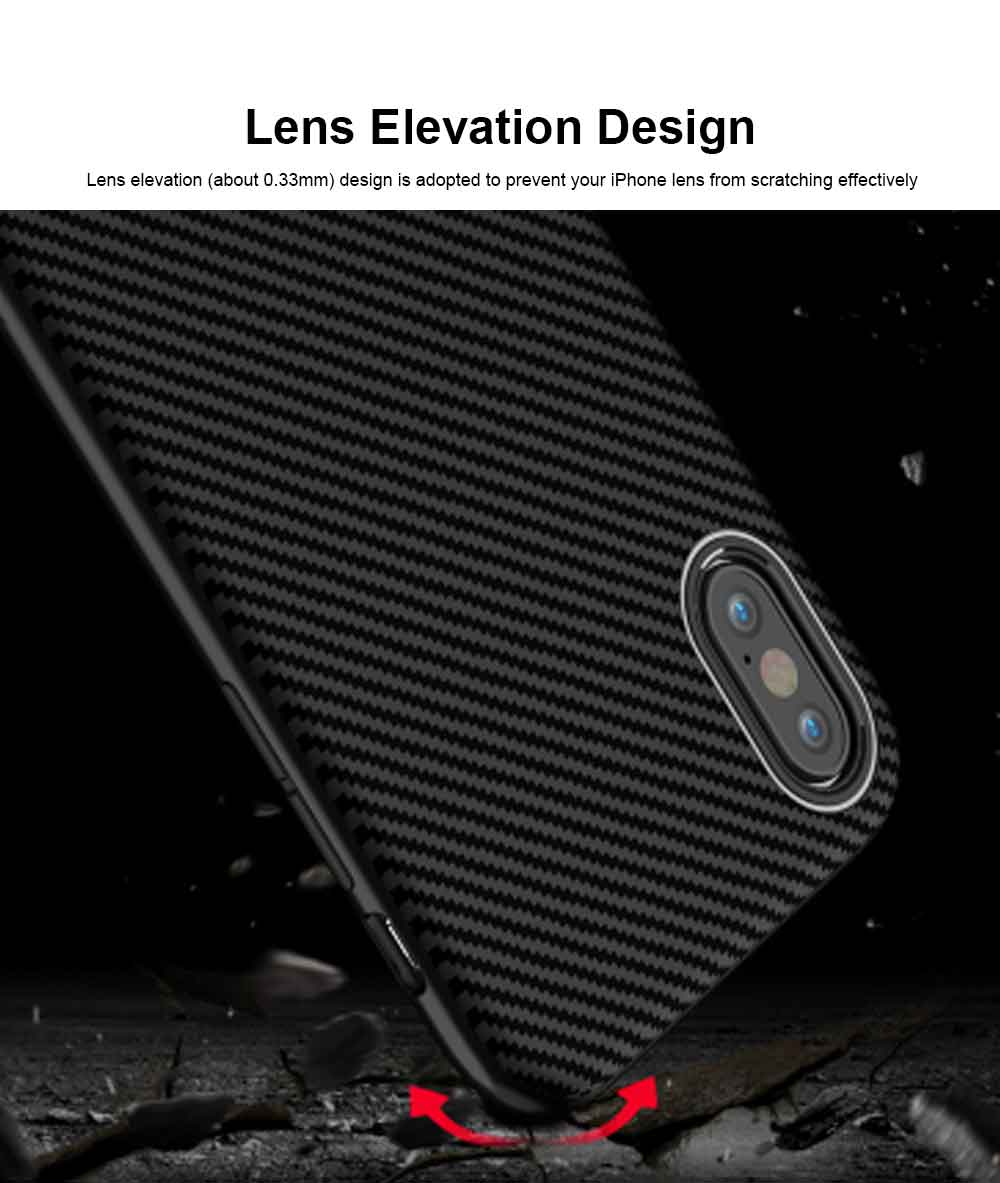 Corrugated Texture Phone Case Compatible for iPhone X/XS/Max, Anti-scratch Protective Cover for Apple iPhone 5.8-6.5 inch Universal Phone Cover 5