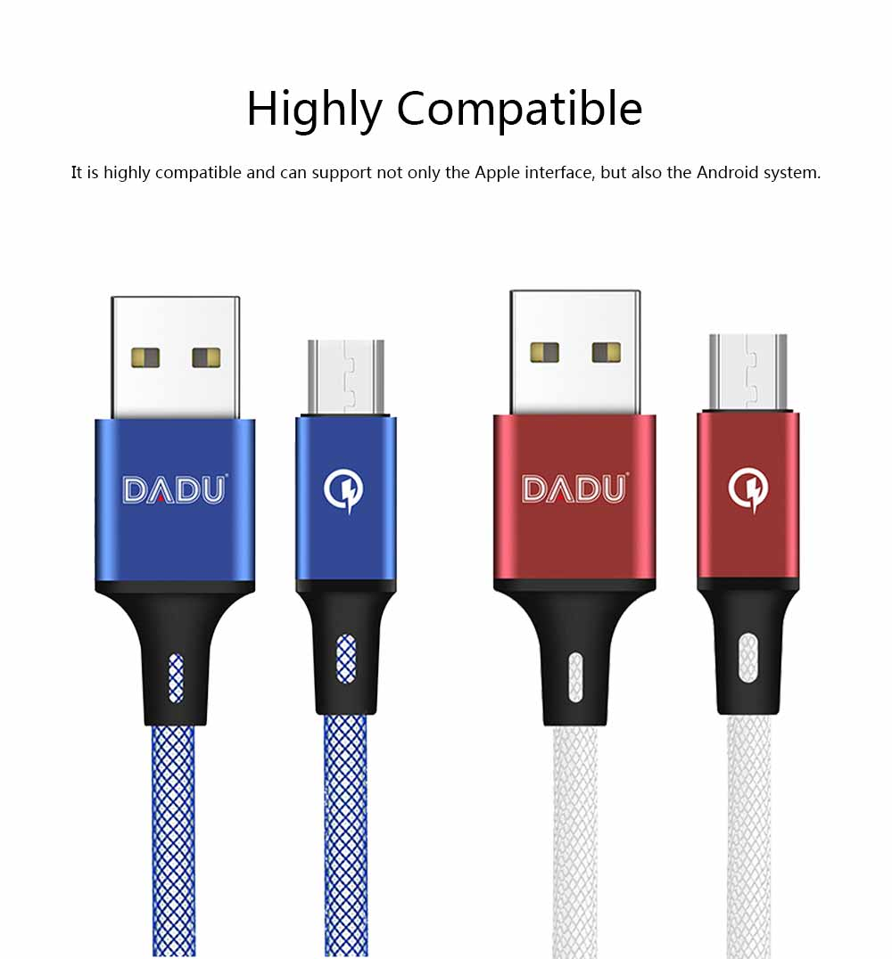 For Apple Android Data Cable / iPhone Fast Charging Line, Mobile Phone Data Cablecharging Cable for Apple and Android System 6
