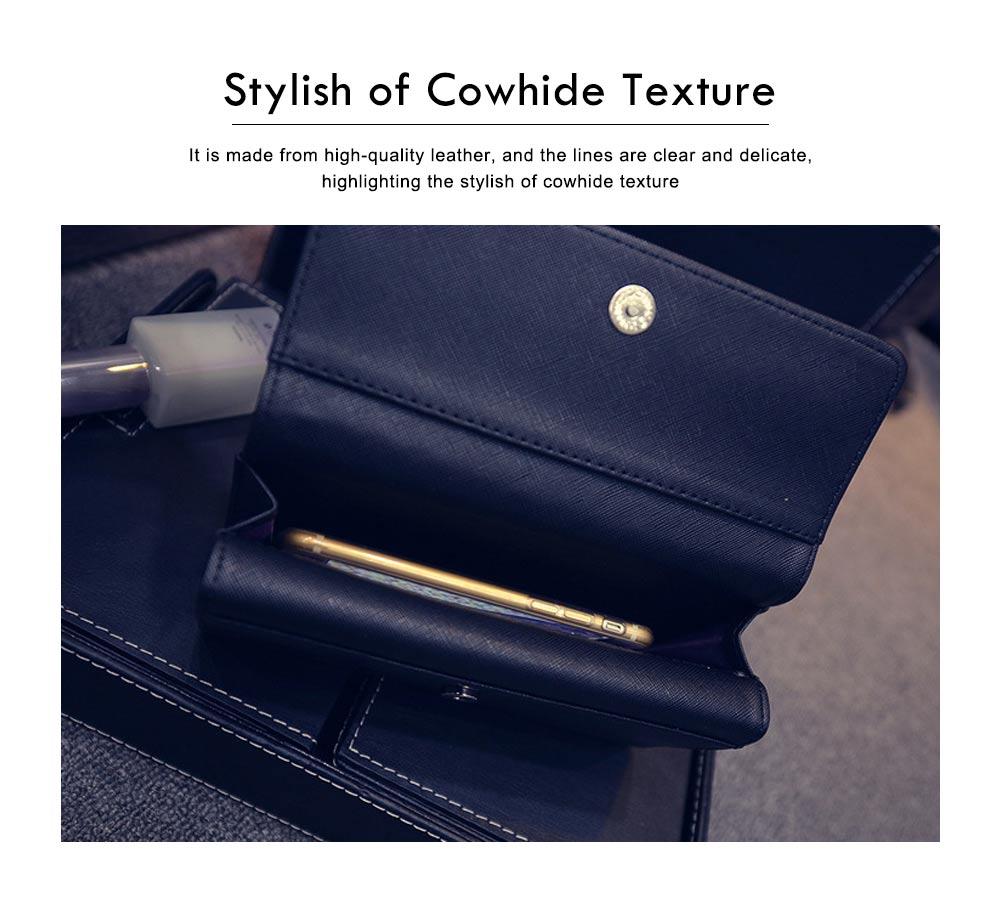 Long Double Cover Clutch, New Fashion Women wallet,European and American Pop Pun Style Rivet Handbag 1