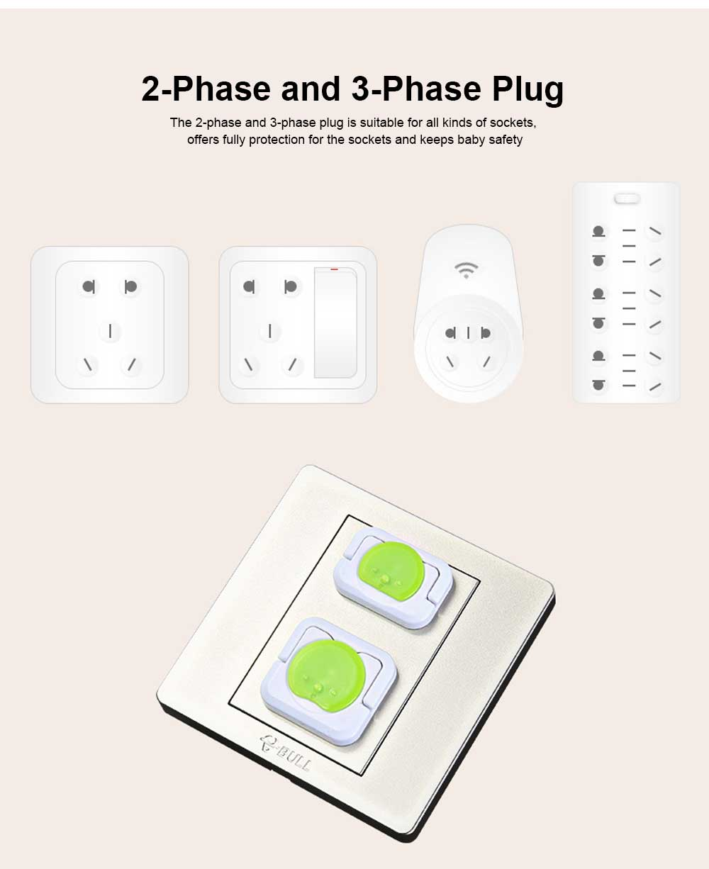 Baby Safety Socket Cover, ABS Electric Shock Resistance Outlet Hard Shell, Universal Pop Socket Cover, Electric-Shock Safeguard Outlet Cover 6 Packs 4