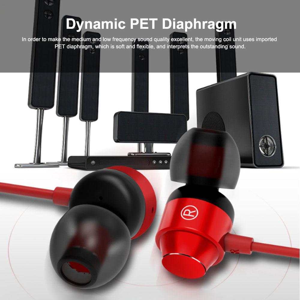 Metal In-ear Earphones Heavy Bass Magic Sound Mobile Phone Computer Universal Headphones, Sports Magnetic Suction Ear Metal Bluetooth Headset 4