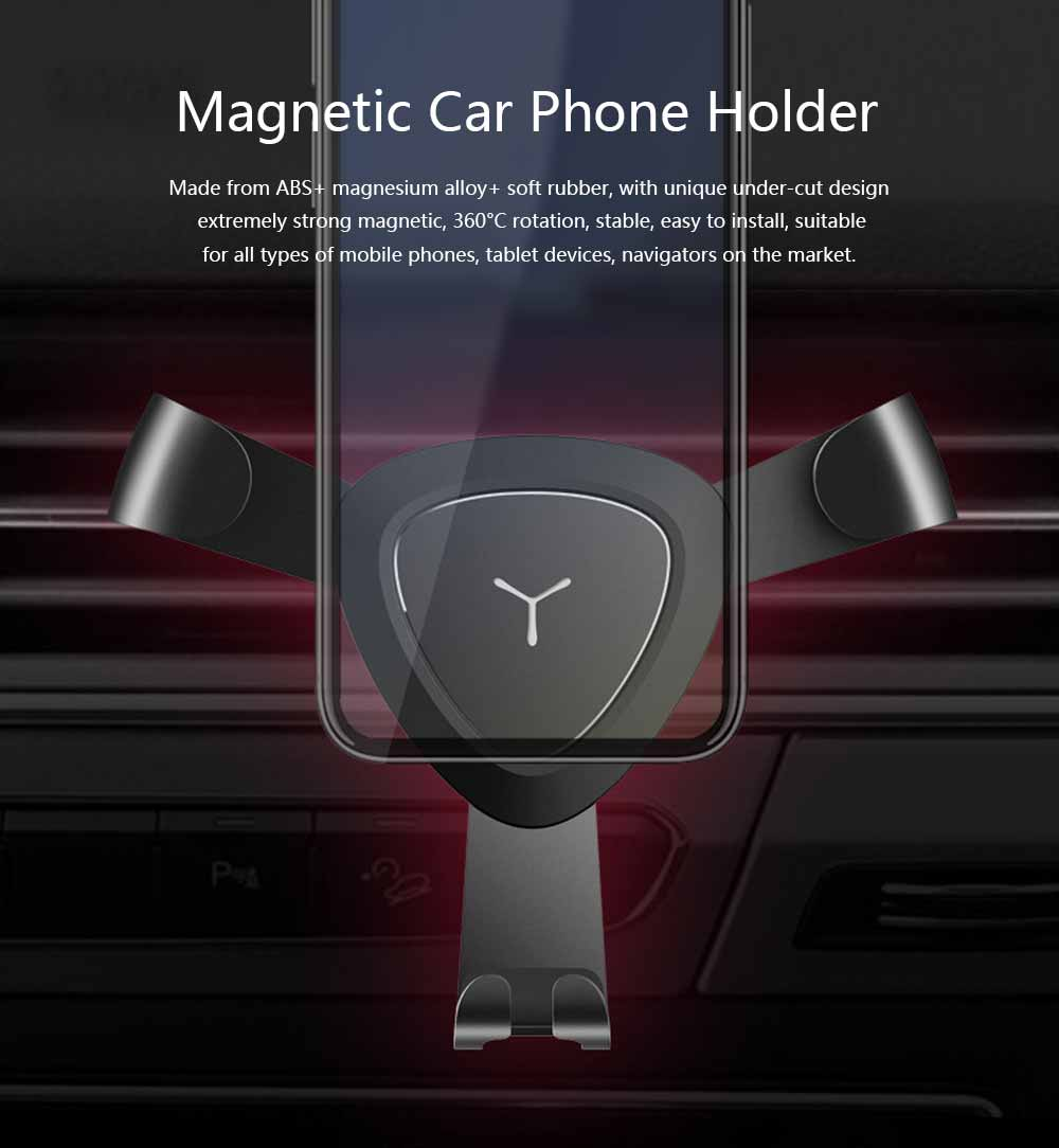 Car Lazy Bracket Phone Holder, Multi-function Creative Metal Car Navigation Universal Outlet Holder 0