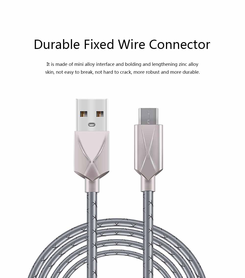 Mobile Phone Data Cable for Apple, Universal USB Cable Suitable for iPhone 7 Andrews Huawei Universal TPE Zinc Alloy Charging Cable 1