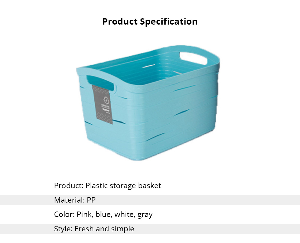 Plastic Storage Basket Square Plastic Storage Basket Laundry Basket Toy Basket Imitation Rattan Storage Container 5