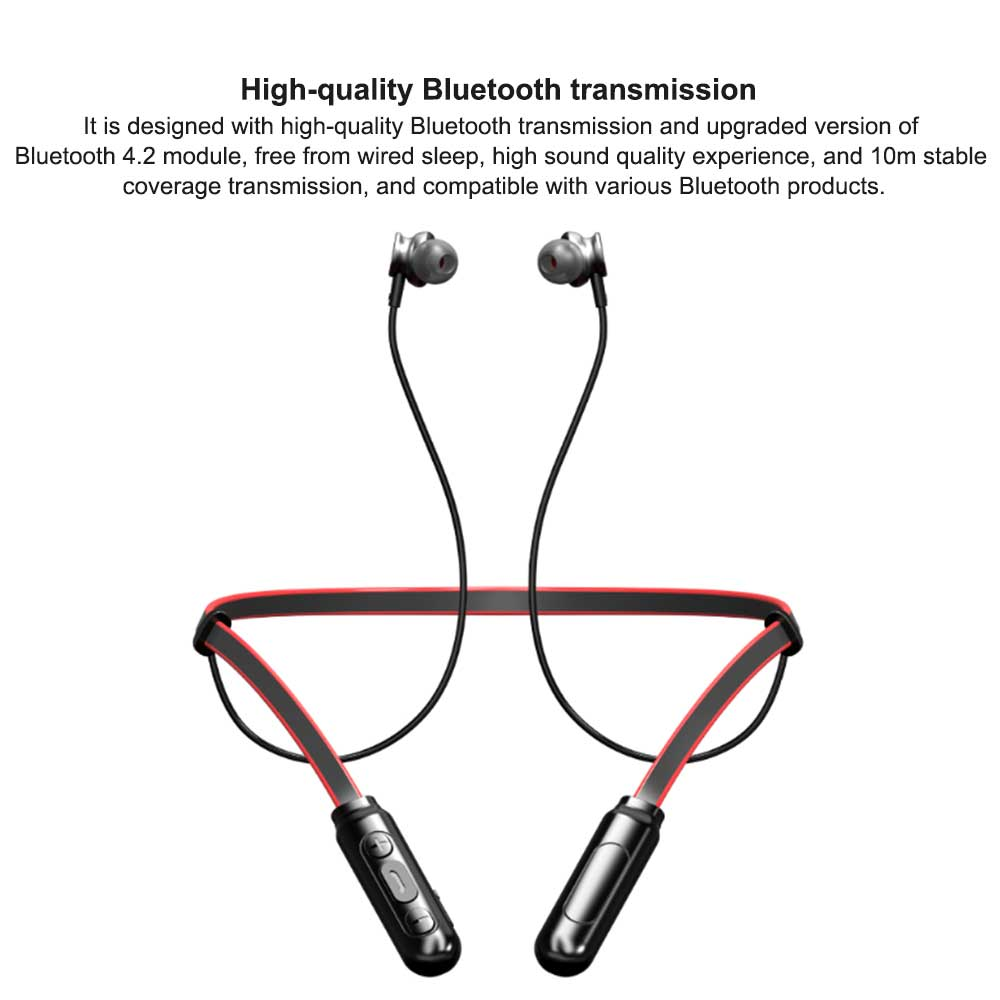 New Bluetooth Headset Neck-mounted Bluetooth Earphone, Sports Bluetooth Headset, Wireless Bluetooth Headset In-ear 4