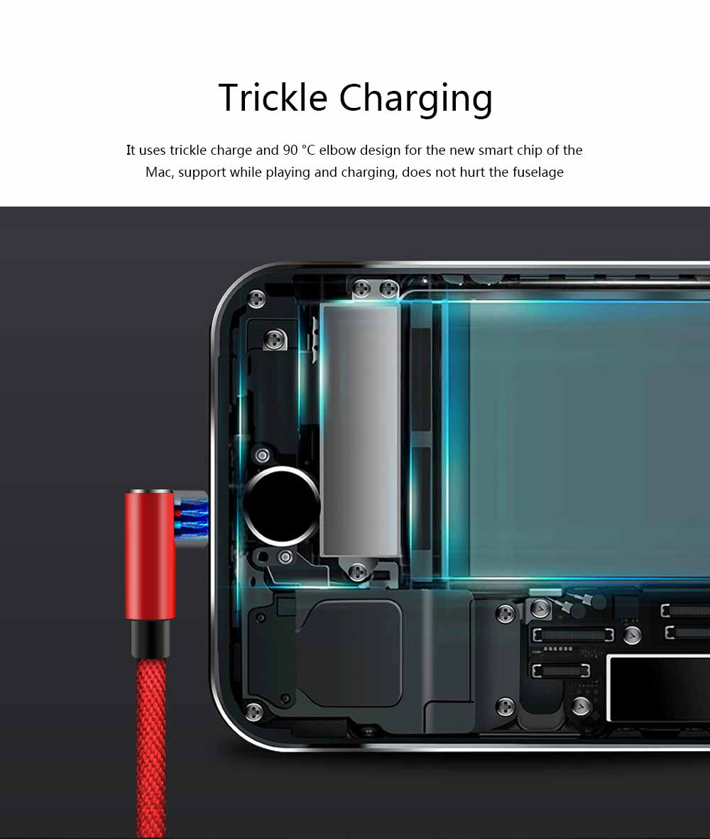 Elbow Data Line 2.4A iPhone 6/7/8 X Android Type-c Fabric Weaving Mobile Phone Data Cable 4