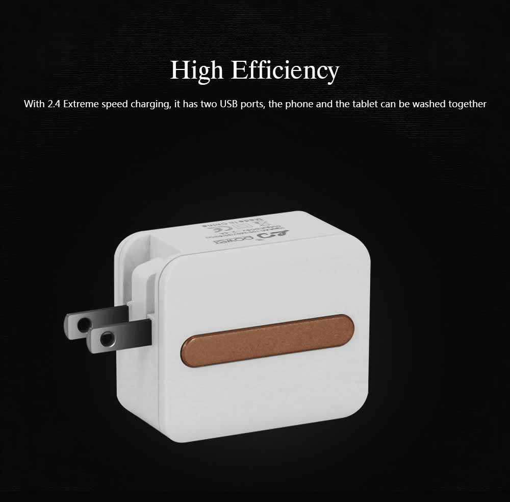 New Mobile Phone Charger, Foldable Multi-port USB Charging Plug Smart Phone Universal Phone Charger 1