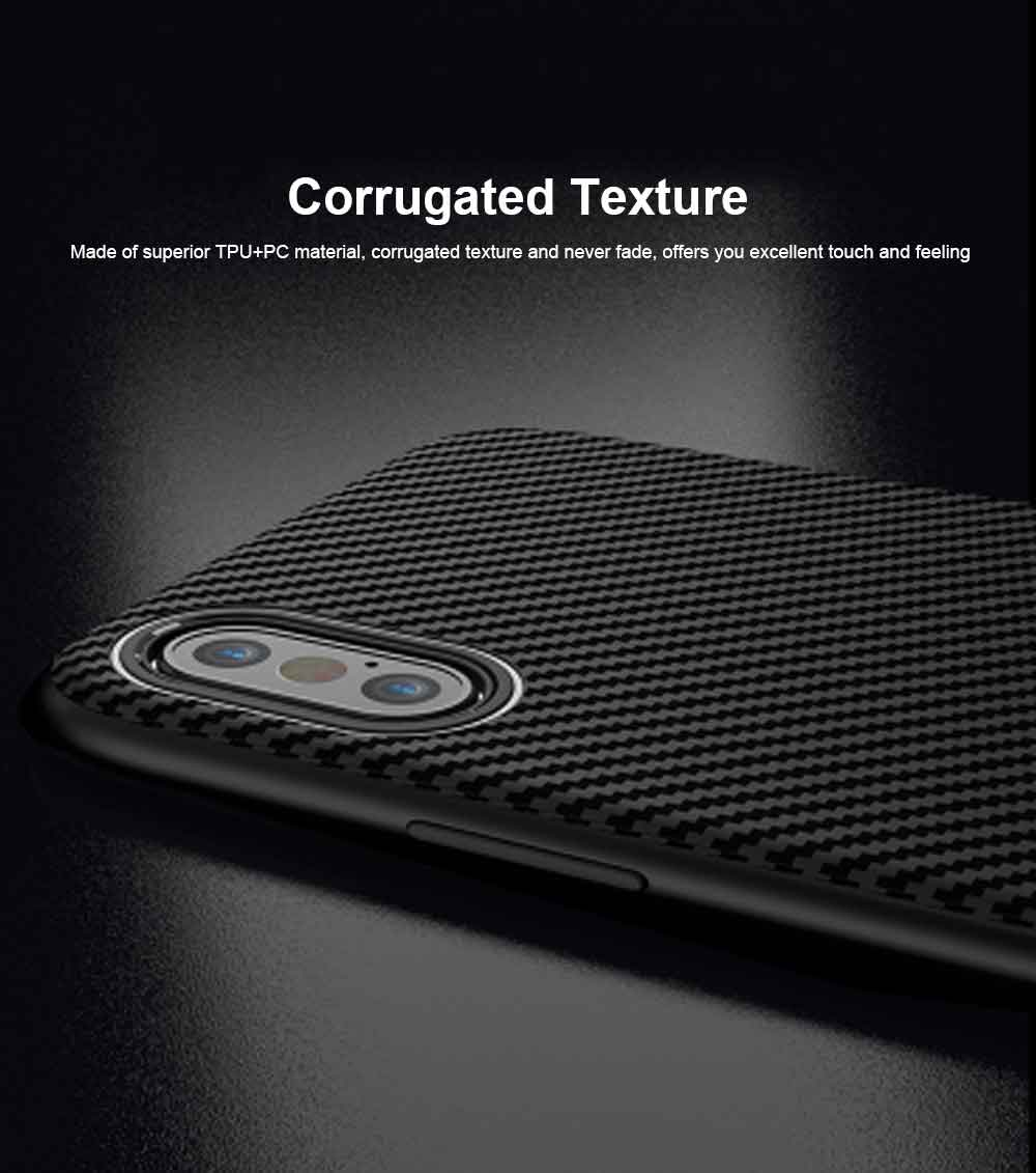 Corrugated Texture Phone Case Compatible for iPhone X/XS/Max, Anti-scratch Protective Cover for Apple iPhone 5.8-6.5 inch Universal Phone Cover 1