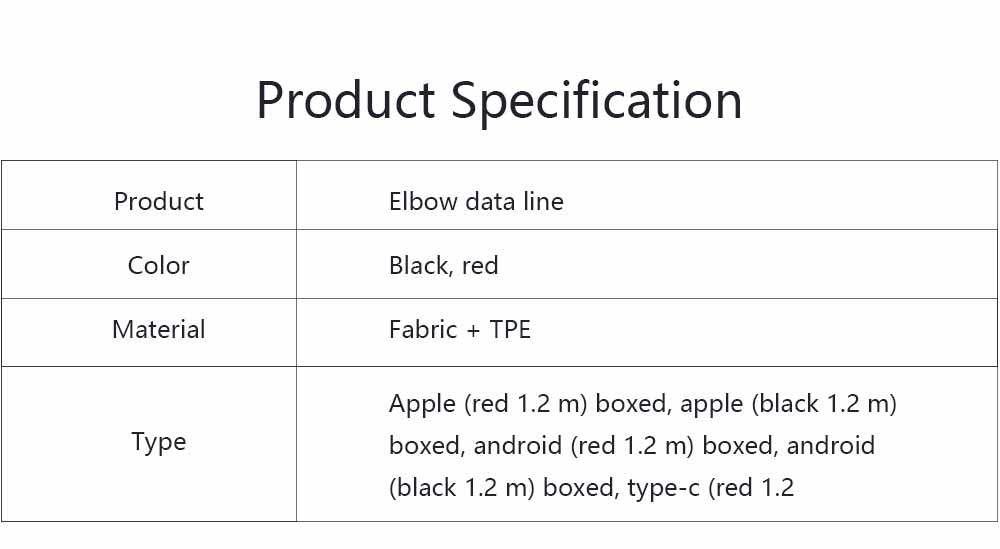 Elbow Data Line 2.4A Apple Iphone 6/7/8 X Android Type-c Fabric Weaving Mobile Phone Data Cable, Mobile Phone Charging Data Cable 7