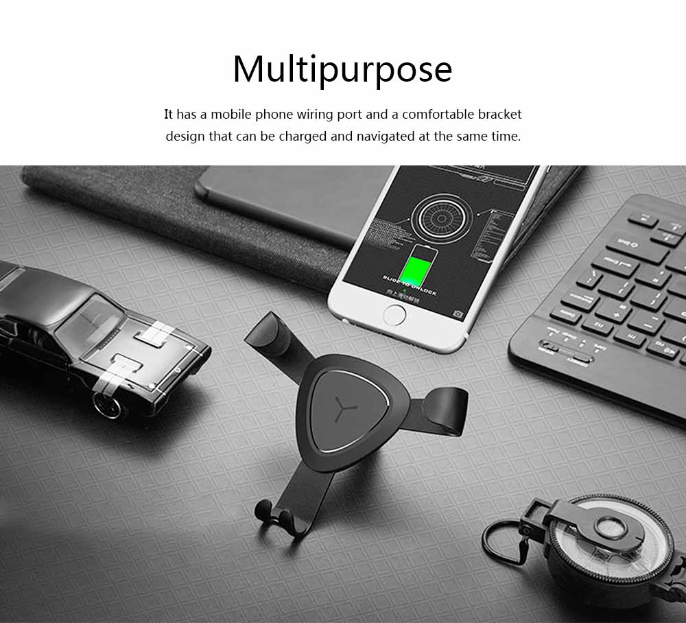 Car Lazy Bracket Phone Holder, Multi-function Creative Metal Car Navigation Universal Outlet Holder 1