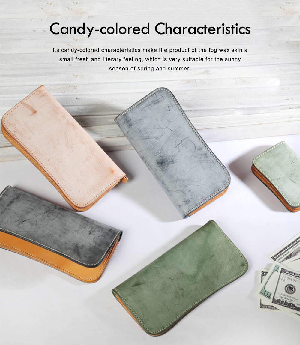 New Long Leather Cutch Fashion Vegetable Tanned Wallet for Ladies, New Handmade Suede Leather Wallet 2