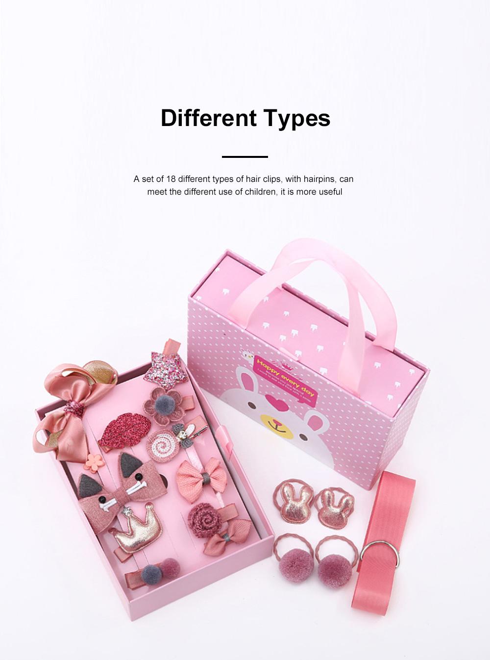 18 Pieces Set Children Korean Girls Cute Baby Hair Clip Girl Head Wear Princess Hair Card Baby Hair Accessories 5