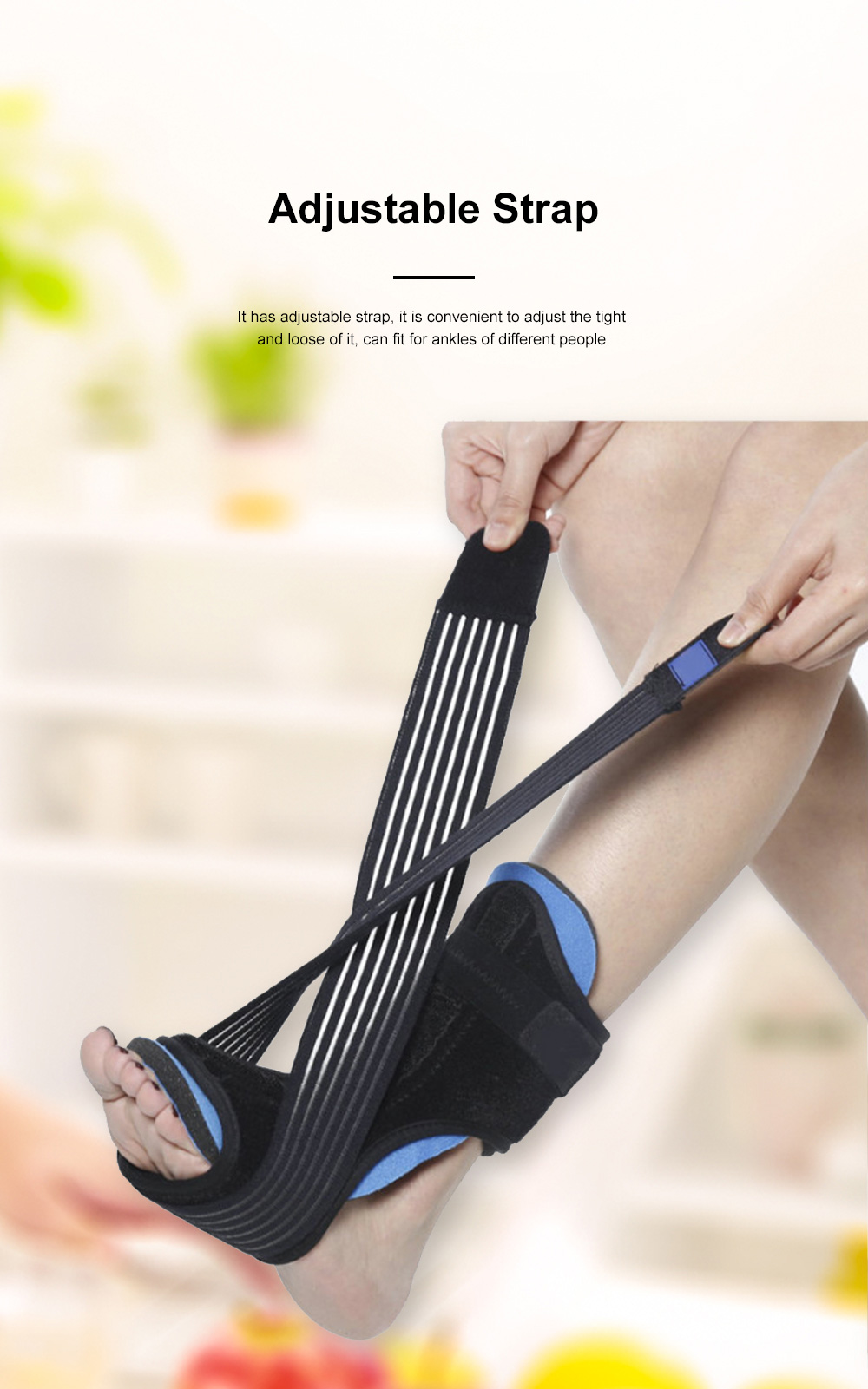 Ankle Support Adjustable Ankle Brace Breathable Nylon Material Highly Elastic Perfect For The Ankle Tendons Correcting 4