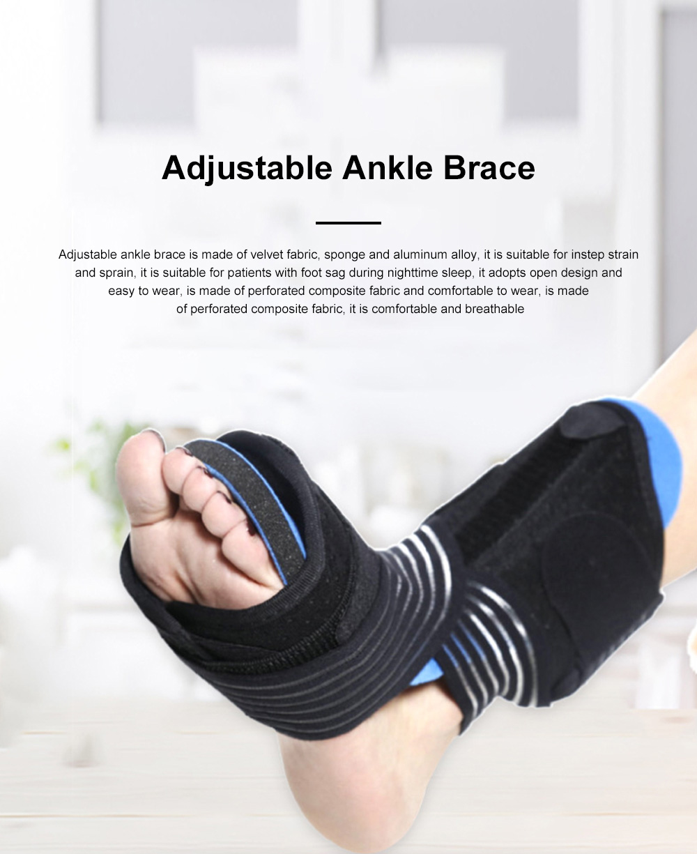Ankle Support Adjustable Ankle Brace Breathable Nylon Material Highly Elastic Perfect For The Ankle Tendons Correcting 0