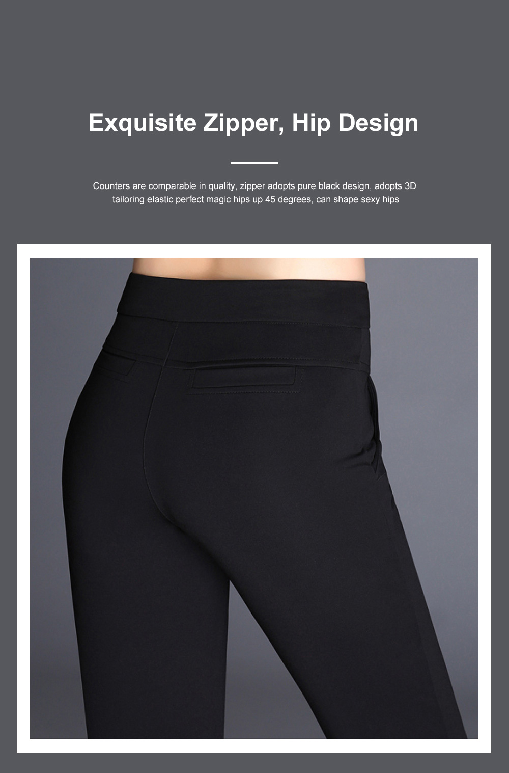 Plus Size Pants Female Casual Long Pants Ladies Office Trousers High Waist Slimming Black Straight Customized Stretch Big Size Slacks 4