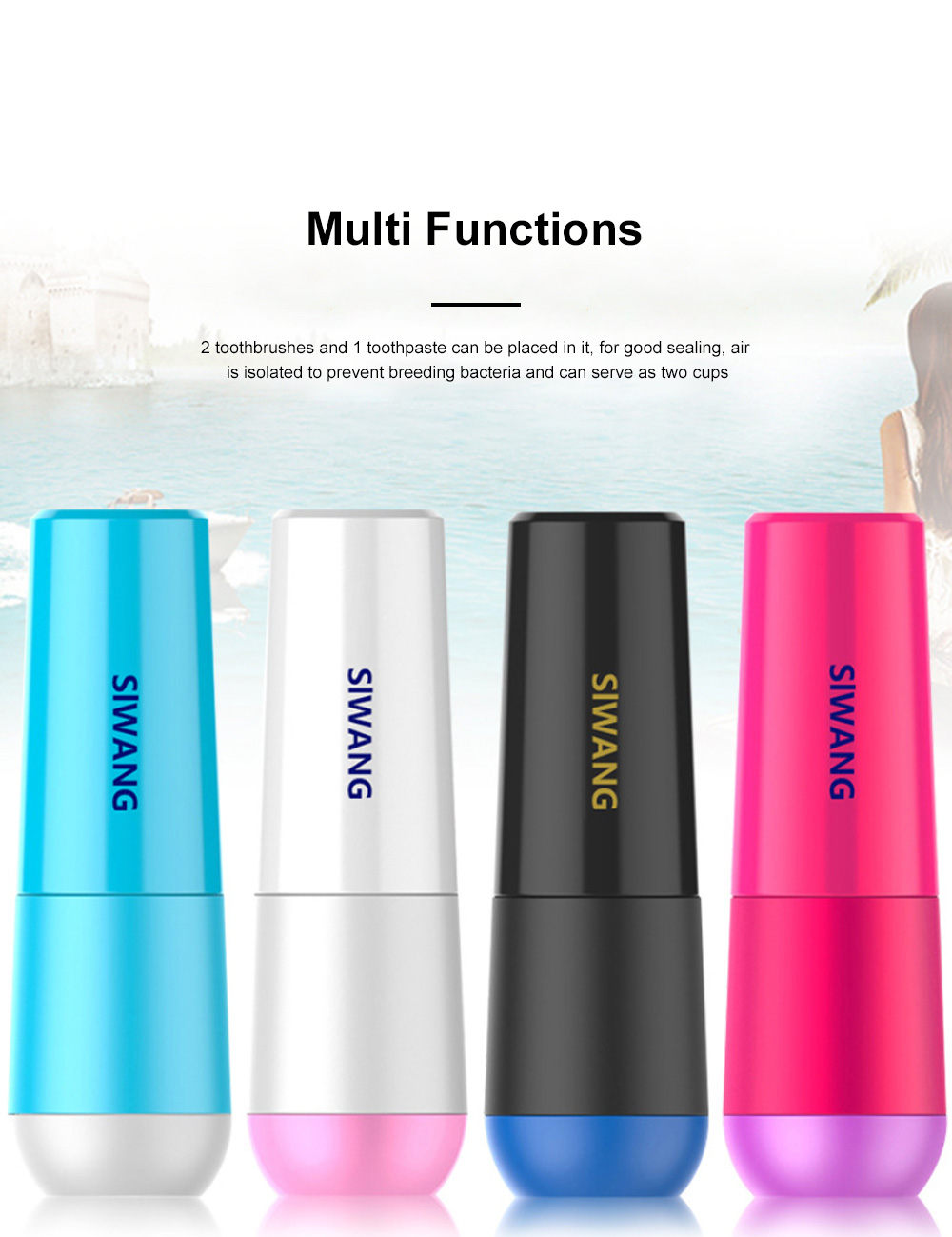Portable Toothbrush Plastic Storage Box Travel Creative Toothbrush Toothpaste Cartridge Bathroom Storage Box Wash Cup 5
