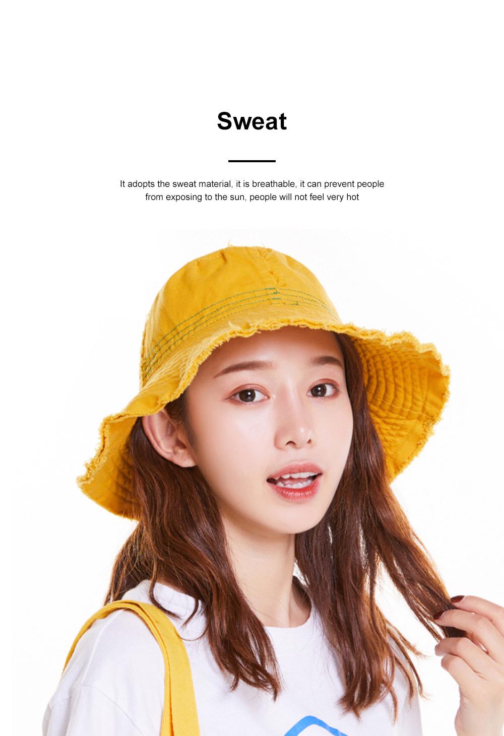 Japanese Hairline Cowboy Fisherman Hat Female Autumn Winter Sun Hat Personality Wild Hat Cap Folding Washable Cloth Cap 1