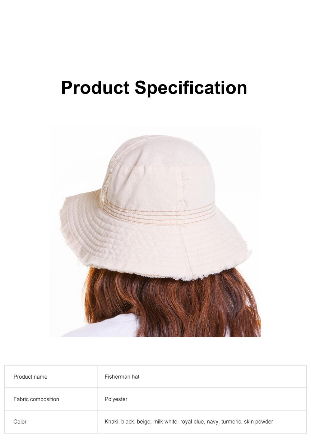 Japanese Hairline Cowboy Fisherman Hat Female Autumn Winter Sun Hat Personality Wild Hat Cap Folding Washable Cloth Cap 6