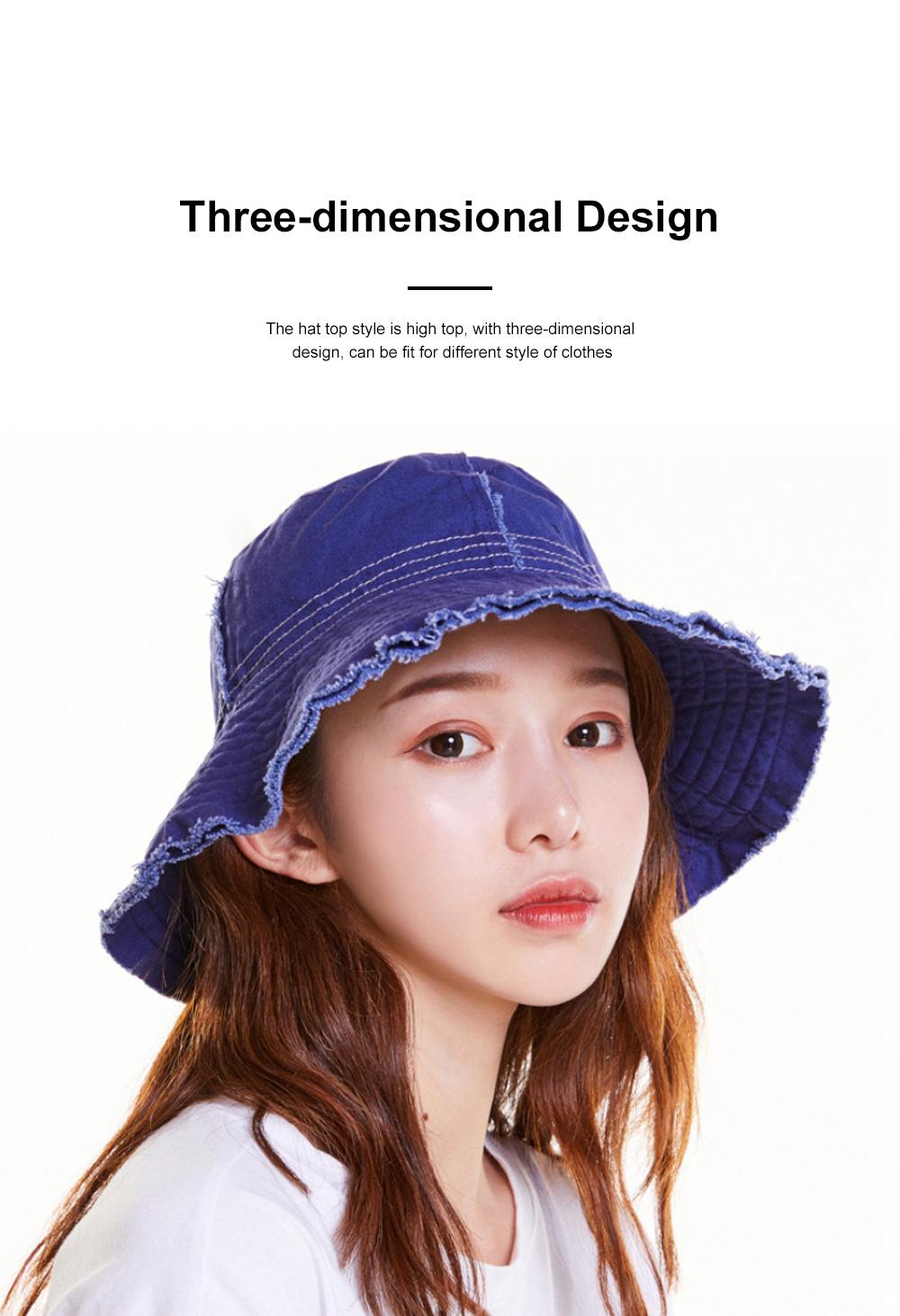 Japanese Hairline Cowboy Fisherman Hat Female Autumn Winter Sun Hat Personality Wild Hat Cap Folding Washable Cloth Cap 3