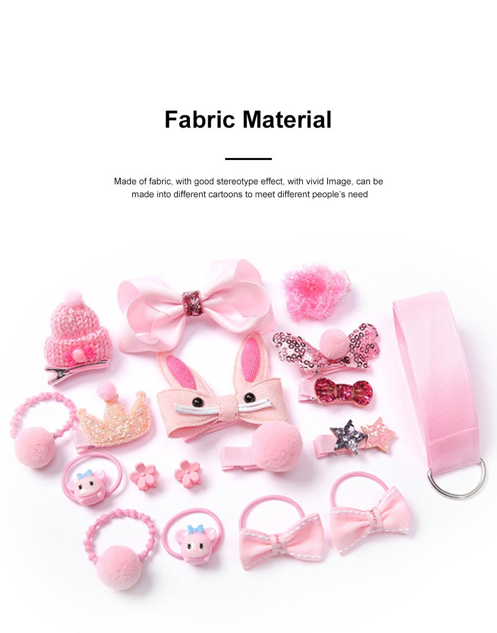 18 Pieces Set Children Korean Girls Cute Baby Hair Clip Girl Head Wear Princess Hair Card Baby Hair Accessories 3