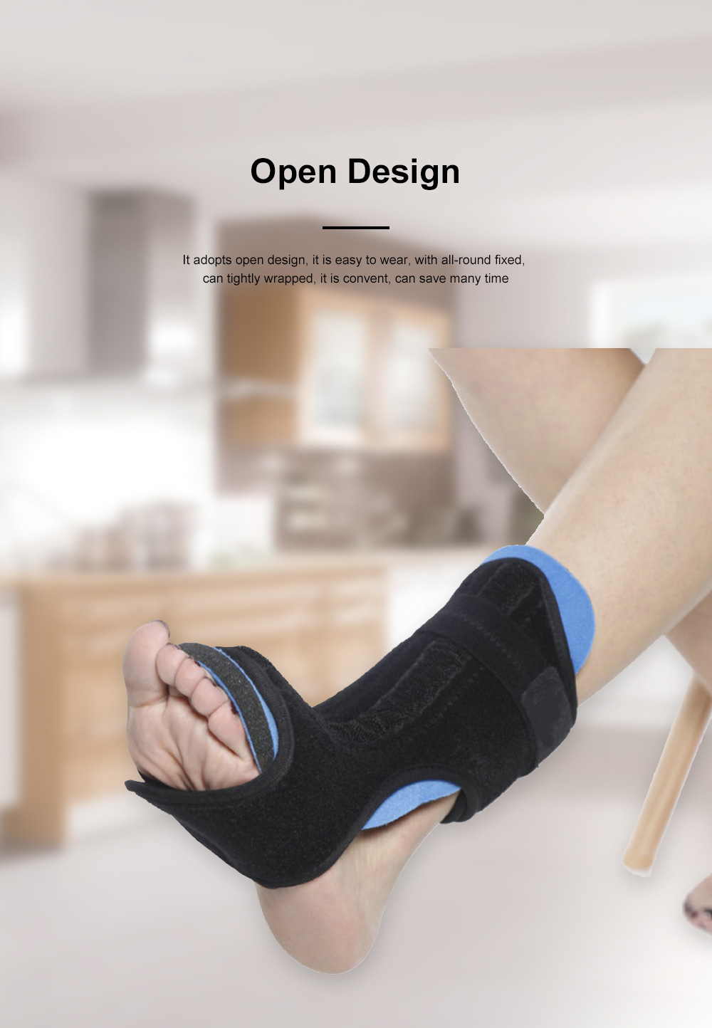 Ankle Support Adjustable Ankle Brace Breathable Nylon Material Highly Elastic Perfect For The Ankle Tendons Correcting 2