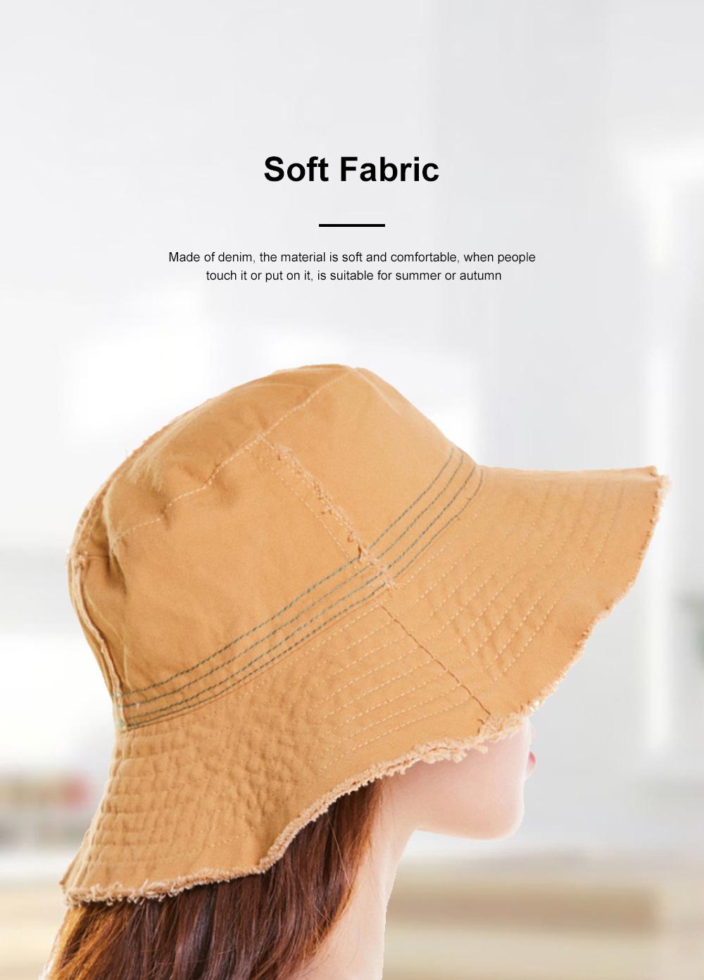 Japanese Hairline Cowboy Fisherman Hat Female Autumn Winter Sun Hat Personality Wild Hat Cap Folding Washable Cloth Cap 4