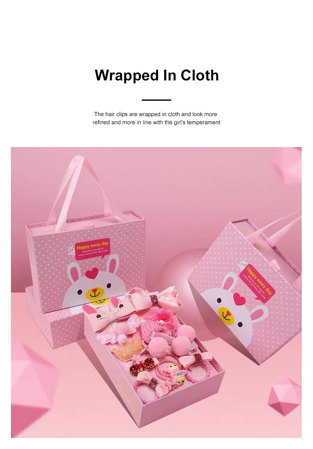 18 Pieces Set Children Korean Girls Cute Baby Hair Clip Girl Head Wear Princess Hair Card Baby Hair Accessories 1