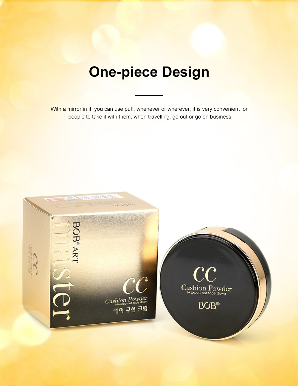 Skin Rejuvenating Air Cushion Daily Color Correcting CC Cream Send Replacement Waterproof Moisturizing Concealer Nude Makeup Cream 2